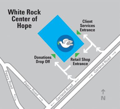 White Rock Center of Hope Location